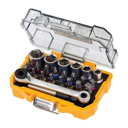 DeWalt DT71516-QZ 24 delige bit en doppenset met ratel in Tough Case