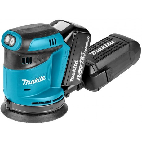 Makita DBO180RTJ excenter schuurmachine 125MM 18V 5,0AH LI-ION IN MBOX