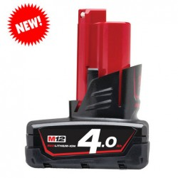 Milwaukee M12 B4 accu 12V  4.0Ah Li-Ion
